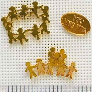 Set of 3 Goldtone School Teacher Children PTA pins